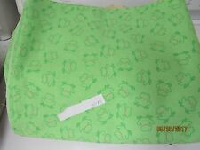 """bright green frog fabric print 44"""" wide by the half yard"""