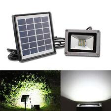 Garden Solar Spotlight 10W LED Flood Spot Light Garage Lamp Outdoor Waterproof