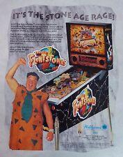 "1993 Williams ""The Flintstones"" Pinball Machine Flyer/Brochure Original"