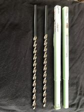 Qty 2 Walter Titex 86mm 3385 Hss Parabolic Flute Extra Length Drill Bits