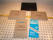 Mazda 99 Maita MX5 owner's manual 1 set of 4 Booklet/ Paper & Black Mazda 1 Case