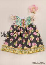 New Matilda Jane Size 4 Platinum Okey Dokey Flutter Dress Only 10 Made