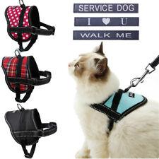 Schnauzer Dog Harness Soft Vest W/ Service dog Patch for Cat yorkie Maltese S M