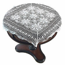 """Handmade Crochet Vintage Lace Tablecloth Table Runner Linens Cover Home 31""""x31"""""""