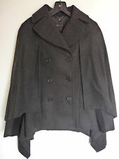 BCBG MAXAZRIA GREY CAPE JACKET COAT    L    UK 12/14    RET £426    BNNT