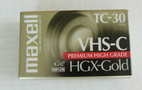Maxell HGX-Gold TC30 Blank Compact VHS Camcorder Video Cassette Tape New Sealed