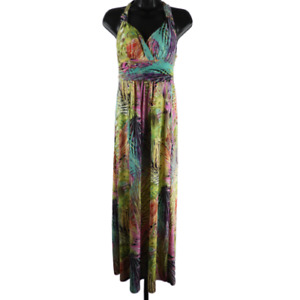 Mlle Gabrielle Multicolor Sleeveless Padded Midi Dress Women's Size Small
