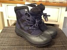 Crocs Womens Allcast II Black/Blue Color Snow Boot Sz 7 M US