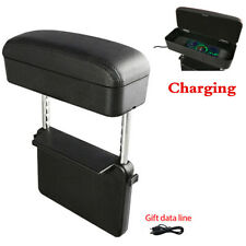 Car Elbow Support Auto Console Side Organizer With Wireless Charging Storage Box