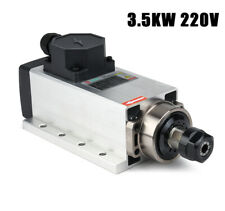 3.5KW Air-cooled Square Spindle Motor for CNC Router Milling Engraving 220V