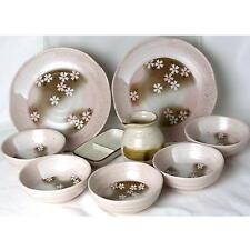 Japanese Soba Serving Plate Dish SET Cherry Blossom Design Pink Color