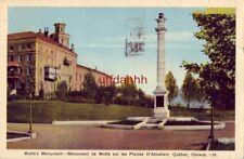 MONUMENT DE WOLFE SUR LES PLAINES D'ABRAHAM. QUEBEC CANADA 1944