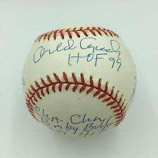Orlando Cepeda Signed Heavily Inscribed Career Stat Baseball With PSA DNA COA