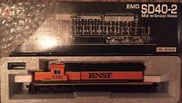 KATO 37-2902 EMD SD40-2 Mid W/SNOOT NOSE BNSF#6340 HO SCALE DIESEL