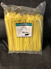 Panduit  250 Piece Cable Ties PLT3H-TL104/N  YELLOW !!