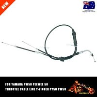 New Motorcycle Gas Accelerator Throttle Cable Assy Kit For Yamaha PW50 1981-2009
