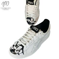 Asics Tiger Men's Trainers ASICS Gel Mickey Mouse 90 Year White Leather Sz 7.5UK