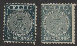 Fiji   Sc. #53-53a used -MLH   'Crown & CR'   1892