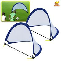 2pcs/ Set Kid Child Portable Pop Up Soccer Goal Outdoor Play Training Sport Net