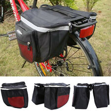 Cycling Waterproof Bicycle Bike Rear Rack Double Pannier Storage Organize Bag BT