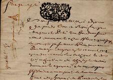 1715 Normandie Rouen Gournay-en-Bray mémoire de dépense veuve PETRI acte ancien