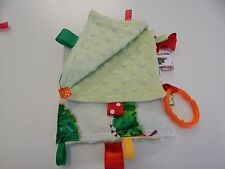 Baby Taggie Blanket Comforter Sensory Toy - Very Hungry Caterpillar -Minkee Back