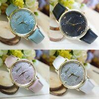 Fashion Geneva Women Watches Dress Watch Faux Leather Watch Analog Quartz Watch