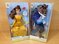 Disney Store Beauty & Beast Princess Belle & Beast Classic Doll Bundle BNIB