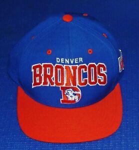 Vintage NFL DENVER BRONCOS 100% Wool Snapback Hat Cap NICE EMBROIDERED