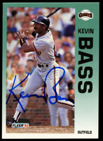 Kevin Bass #626 signed autograph auto 1992 Fleer Baseball Trading Card