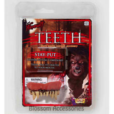 A984 Werewolf Fake Teeth Wolf Halloween Costume Zombie Vampire Fangs Prop Makeup