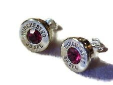 Handcrafted Remington or Winchester shotgun shell jewelry items, earrings