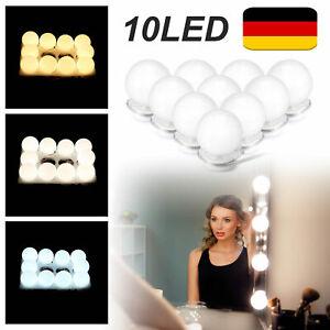 10LED Schminkspiegel Schmink-Lampe Licht Spiegelleuchte für Make Up Schminktisch