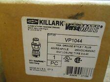 KILLARK  VP1044  100A 4W 4P P&S PLUG PIN & SLEEVE HUBBELL