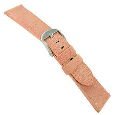 24mm deBeer Genuine Sting Ray Pink Padded Watch Band Strap