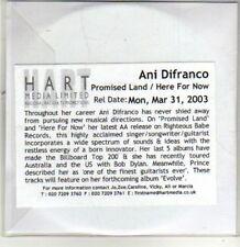 (CS967) Ani Difranco, Promised Land - 2003 DJ CD