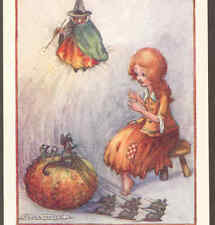 "Mint.! ""Cinderella"",Pu mpkin Coach,Mice,Godmother,Fair y Tale,F.White Postcard"