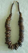 Chunky Dark  Brown  Ceramic  Beads Beaded Necklace Greek