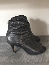 Cynthia Vincent black studded booties, size 7.5