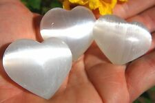 "[3] MD 2"" SELENITE POCKET PUFFY HEART Healing Crystal Reiki - ZENERGY GEMS™"
