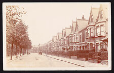 Franconia Road London SW4 Street View Posted in 1909 England Postcard RPPC Photo