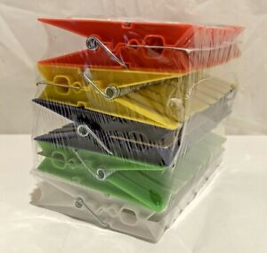 50 Piece Spring Style Plastic Clothespins - 5 Colors - Laundry, Craft Supply NEW