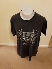 Camiseta para hombre de banda de rock Trueno 1990 World Tour Talla M Nuevo Con Etiqueta Matalan