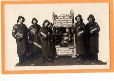 Real Photo Postcard RPPC - Advertising Uneeda Biscuit People in Raincoats