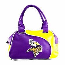 Minnesota Vikings Women Per-fect Bowler Bag Purse NFL Authentic by Little Earth