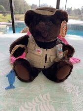 """Beary Collection Rod N Reel Bear Carrying Avon Bug Guard, 13"""""""
