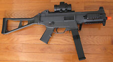 UMP Metal Gearbox Airsoft Electric Gun W/Adj. Metal Laser, Scope, Flashlight