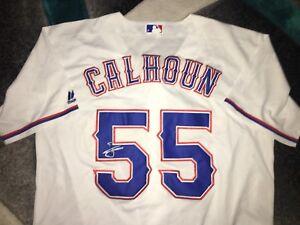 Willie Calhoun Signed Texas Rangers Jersey Rookie Superstar COA