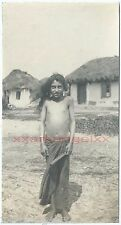 RARE AUTHENTIC ROMANIAN GYPSY picture, Great War era 1917. №022 young gypsy girl