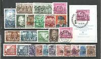 DDR 1954   gestempelt   kompletter Jahrgang Block + Blockmarke